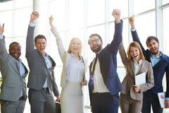 Excited co-workers Royalty Free Stock Images
