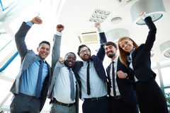 Excited co-workers Stock Images