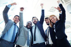 Excited co-workers Stock Photo