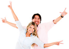 Excited couple Royalty Free Stock Image