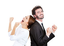 Excited couple Royalty Free Stock Images