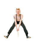 Excited drummer Royalty Free Stock Photo