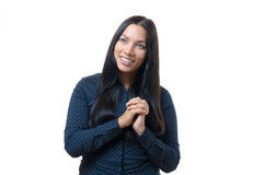 Excited elated young woman Stock Photography