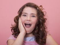 Excited expression Stock Photography