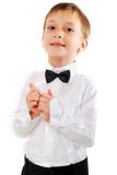 Excited Face Of A Small Boy. Stock Image