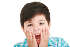 Excited face of a small boy Stock Image
