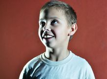 Excited face of a small boy Royalty Free Stock Images