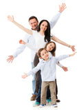 Excited family celebrating Stock Image