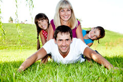 Excited famiy Stock Photography
