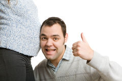 Excited father Stock Photo