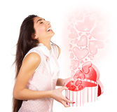 Excited female Royalty Free Stock Photo
