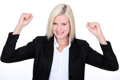 Excited female businesswoman Royalty Free Stock Photo