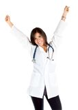 Excited female doctor Royalty Free Stock Images