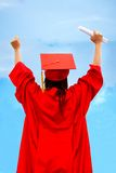 Excited female graduate Royalty Free Stock Photos