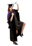 Excited female graduate Stock Image