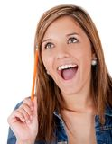 Excited female student Stock Photo