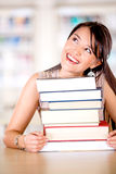 Excited female student Royalty Free Stock Photography