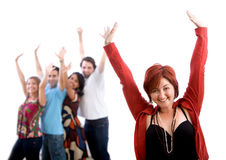 Excited friends Royalty Free Stock Images