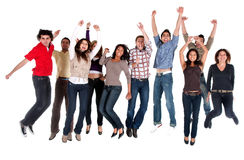 Excited friends Stock Image