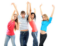 Excited friends Stock Photo