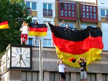 Excited German public after the football world cup victory Stock Photography