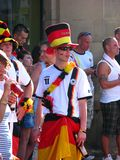 Excited German public after the football world cup victory Stock Photo