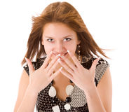 Excited girl Royalty Free Stock Photos