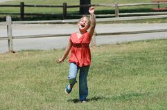 Excited Girl Stock Photo