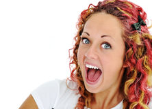 Excited girl Stock Image