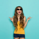 Excited Girl Shouting Royalty Free Stock Images