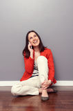 Girl talking on the phone and laughing Royalty Free Stock Photography