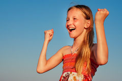 Excited girl Stock Photography