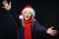 Teen girl with outstretched hands Stock Images