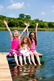 Excited  girls Stock Photo