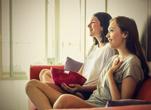 Excited girls Stock Images