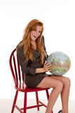 Excited globe Royalty Free Stock Images