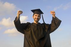 Excited Graduate Stock Image