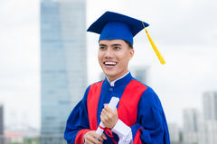 Excited graduate Stock Images