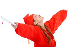 Excited graduate student Royalty Free Stock Images