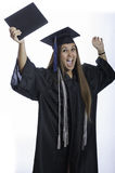 Excited about graduation Stock Photo