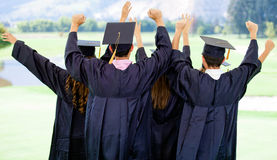 Excited graduation group Stock Photos
