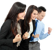 Excited group of business people Stock Photography