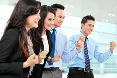 Excited group of business people Stock Photos