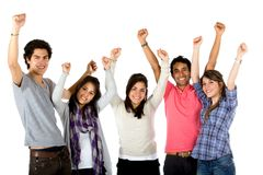 Excited group isolated Royalty Free Stock Photography