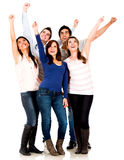Excited group of people Royalty Free Stock Photos