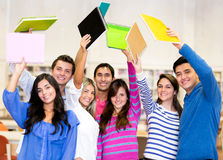 Excited group of students Royalty Free Stock Photography