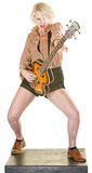 Excited Guitarist Stock Images