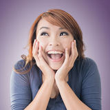 Excited happy Asian girl Royalty Free Stock Image