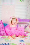 Excited happy little girl Stock Images
