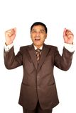 Excited Indian businessman. Royalty Free Stock Image